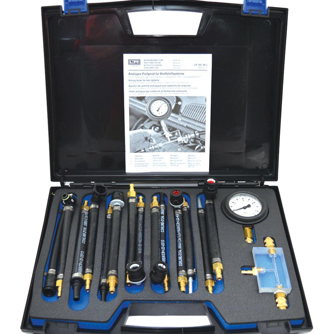Fuel Lw Pressure Tester Connectors Gauges on Diesel Engine Injector Tester