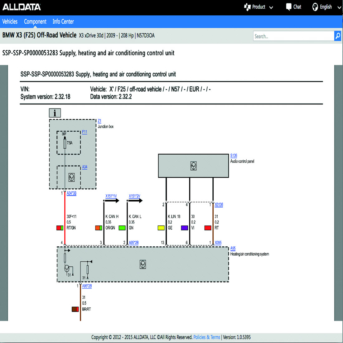 Electrical Wiring Diagram Information : Alldata the industry standard for oe repair information