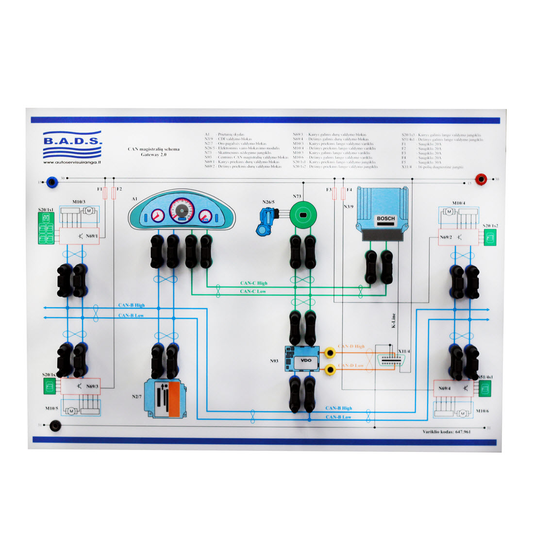 Can Bus Training Board Simulator For Sale