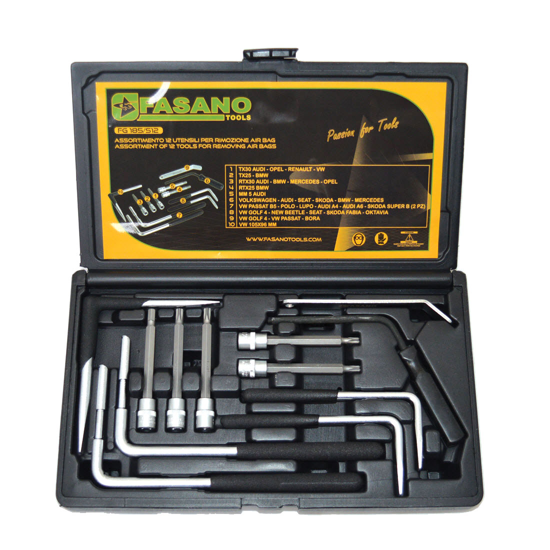air bag, Universal tools for expanding air bag, fasano