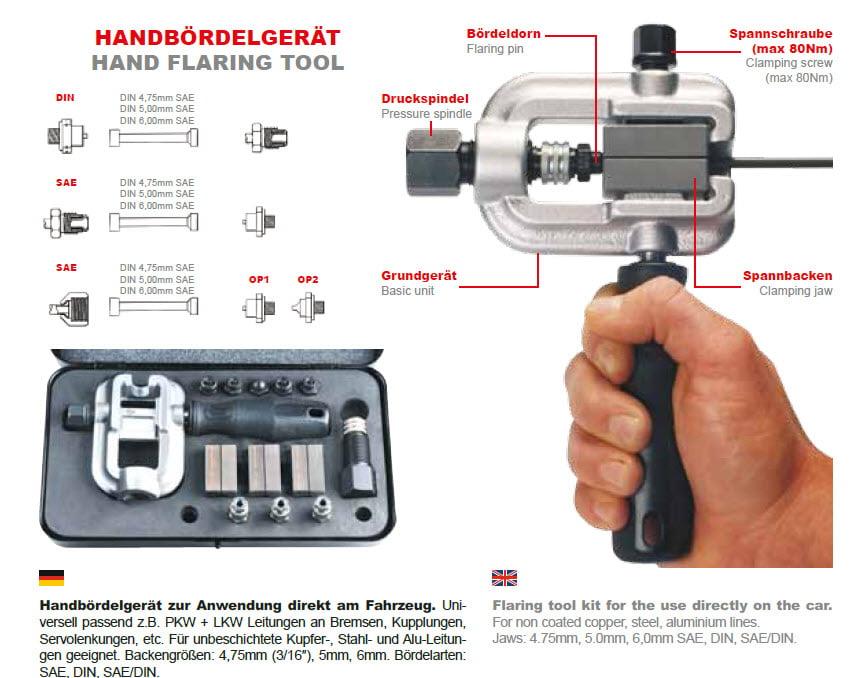 brake pipe flaring tool