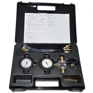 Piezo injector return pressure tester
