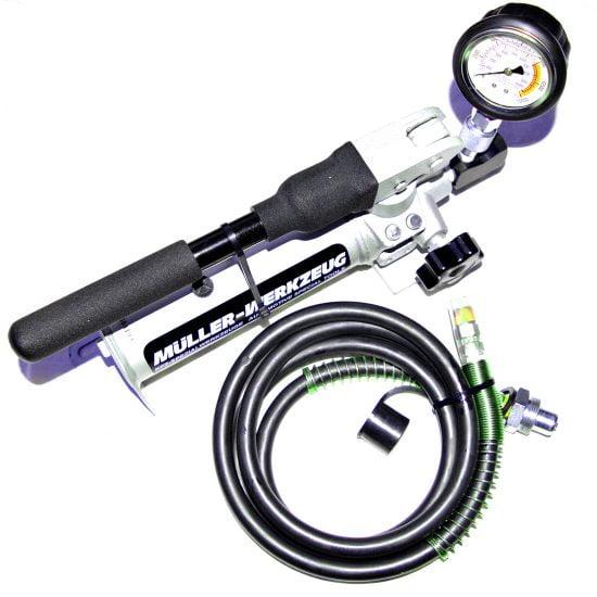 hydraulic hand pump 700-bar with gauge