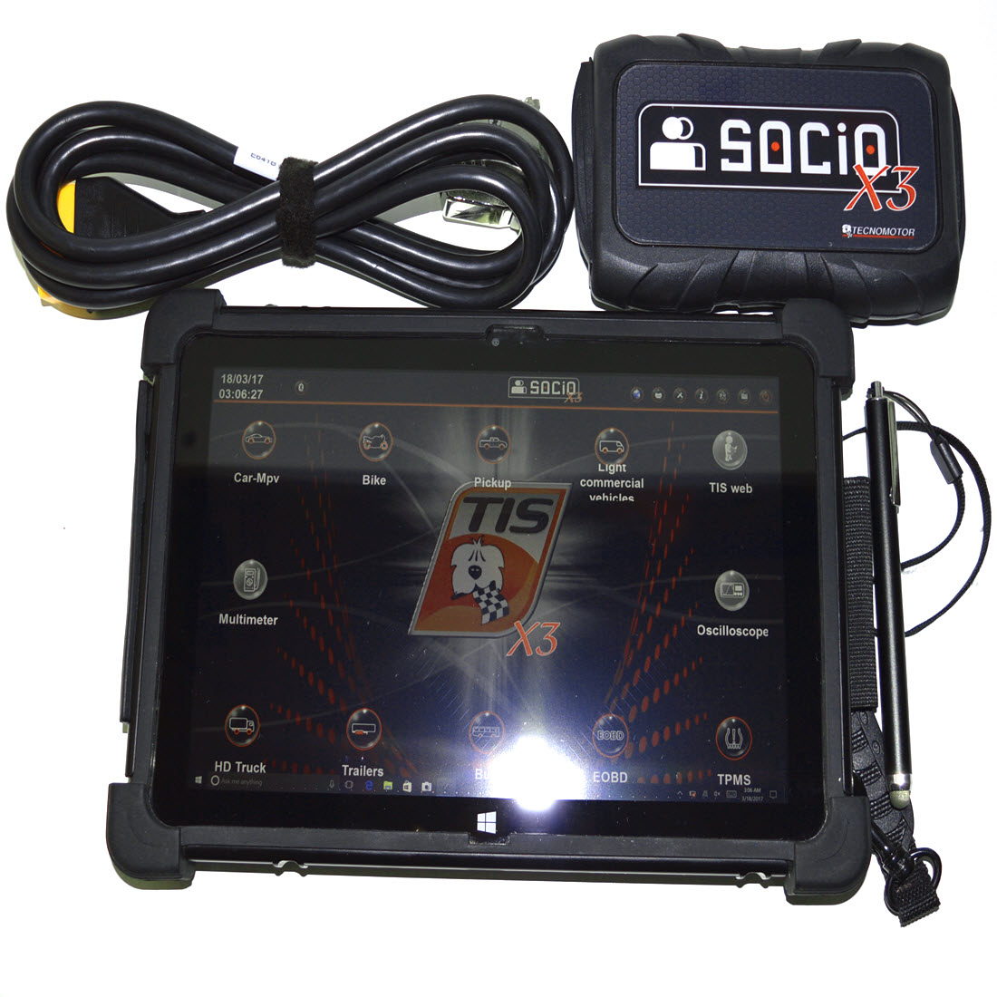 Tenomotor socio x3 pc based diagnostic tool with rugged for Motor vehicle diagnostic machine