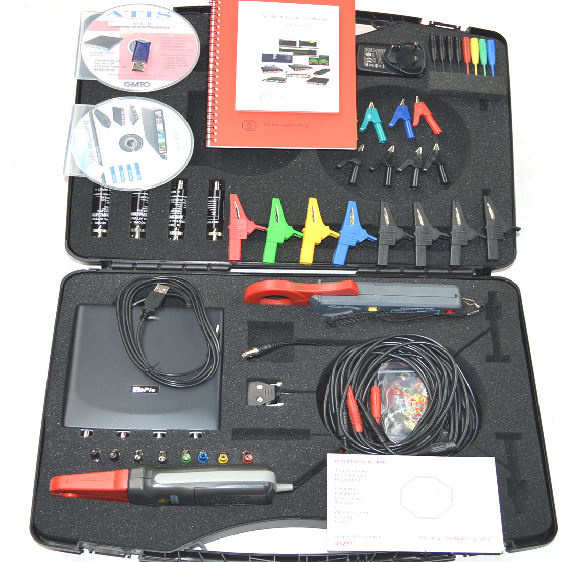 Gmto Tiepie Hs6 Diff 4 Channel Oscilloscope Set B For Sale Laptop Multimeter Tests Checking Voltage And Short Circuits