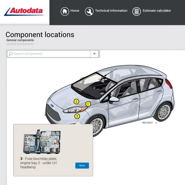 Autodata-component-location