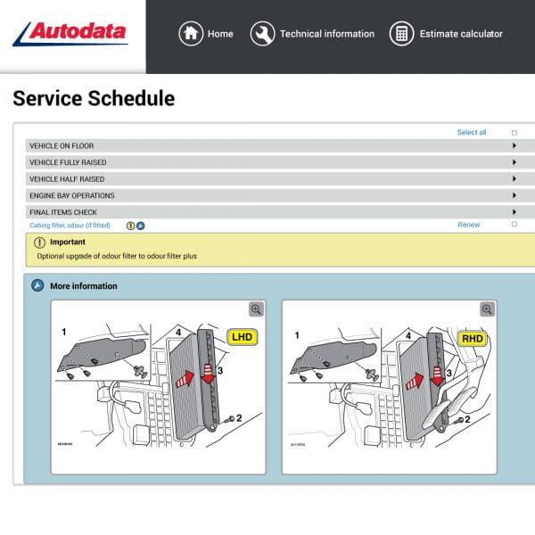 Autodata-service-schedule