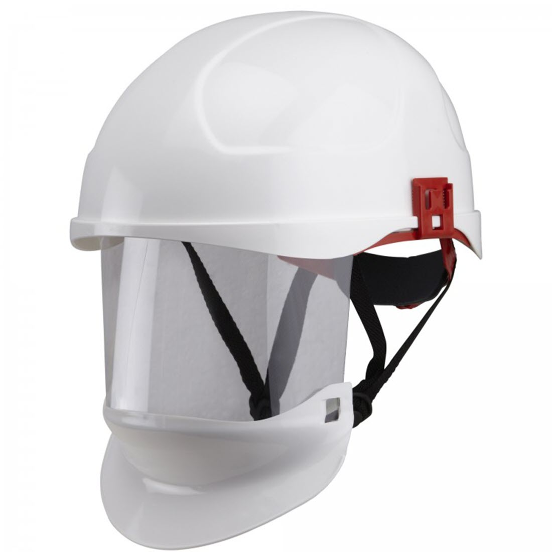 Helmet with face shield