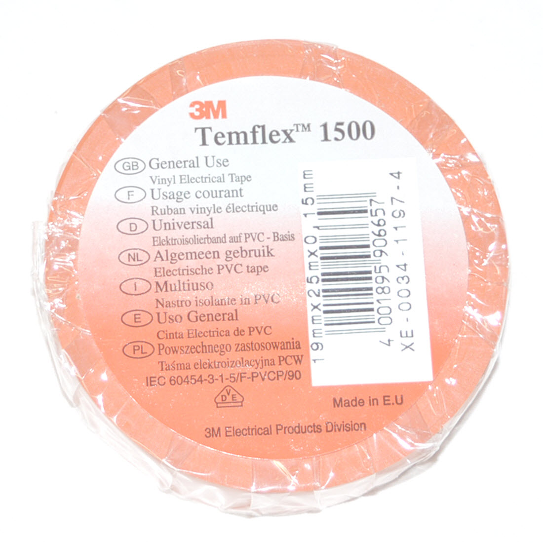Orange insulating tape
