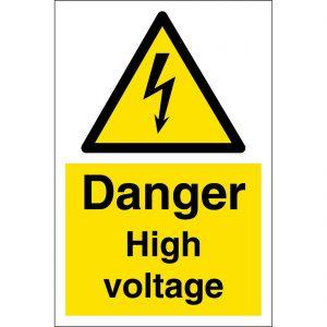 danger high voltage sign large