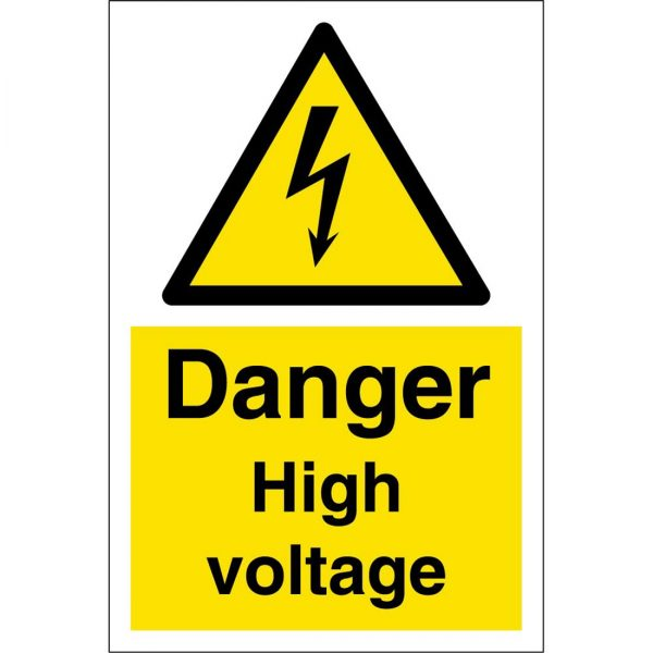 danger high voltage sign large