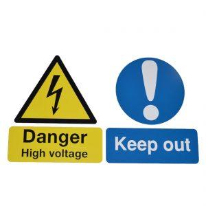 Danger high voltage keep out
