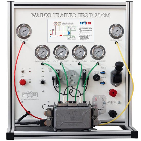 Truck trailer WABCO EBS D 2S/2M braking system training stand