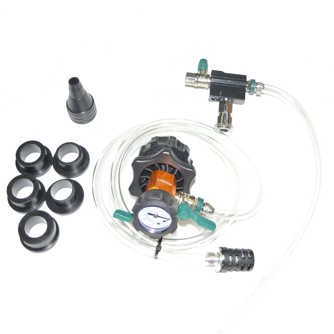 Cooling system vacuum and refill kit