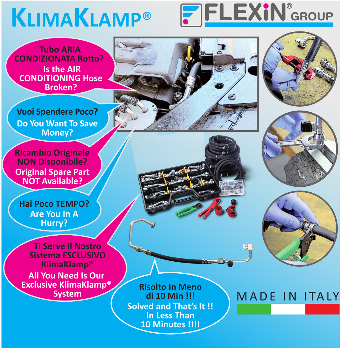 KlimaKlamp® AC Hose Repair Kit