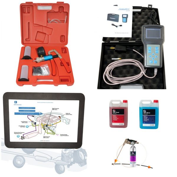DPF flush and testing kit