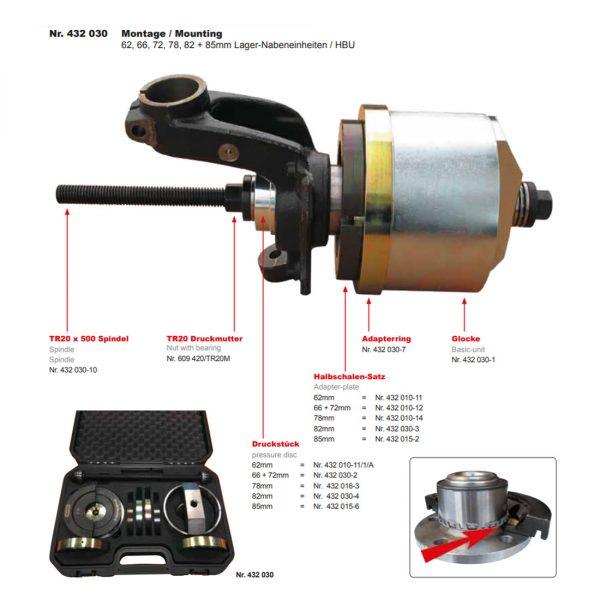 Generation 2 Wheel Bearing Tool Kit Muller Werkzeug